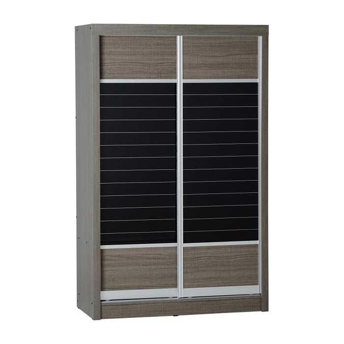 Lisbon-2-Door-Sliding-Wardrobe-in-Black-Wood-Grain