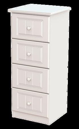 Eden 4 drawer locker white
